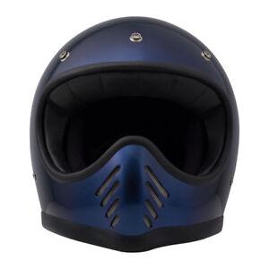 Casque Moto Integral Dmd Seventy Five Bleu Taille Xxl Rétro