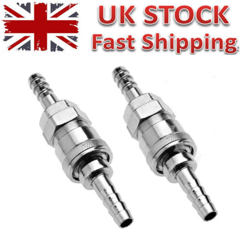 4x 8mm Gas Hose Copper Nozzle Quick Release Connector for Motorhome BBQ UK GB