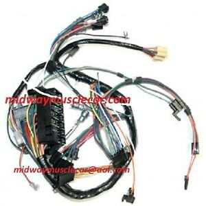 details about dash wiring harness 66 67 pontiac gto lemans tempest 1969 pontiac gto wiring diagram 1967 pontiac lemans wiring diagram