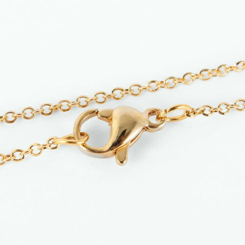 """Stainless Steel Necklace Gold tone 18/"""" Top Quality N115"""