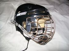 BAUER NBH4500S HOCKEY HELMET & MATCHING TRUE VISION CAGE GREAT SHAPE VERY CLEAN
