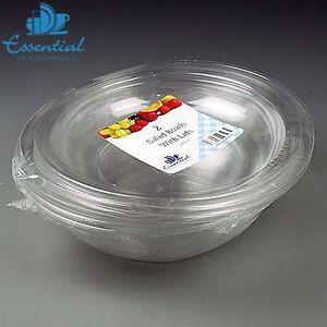 Essential Housewares Insalatiera in plastica chiara 2400Cc Confezione da 2 A CASA CUCINA NUOVO  </span>