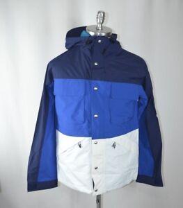 NWT-Penfield-Men-039-s-Greylock-Colorblock-Zip-Hooded-Jacket-Sz-L-Large-Blue-White