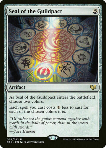 MTG Rare Seal of the Guildpact x 1 NM Commander 2015