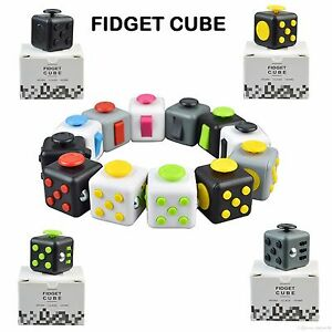 EDC-FIDGET-CUBE-Fiddle-Children-Kids-Toy-Adults-Stress-Relief-ADHD-Boxed-Gift-UK