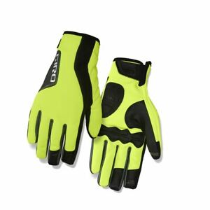 Cycling-Gloves-Full-Finger-Giro-Ambient-2-0-Insulated-2017-Yellow-Black-S