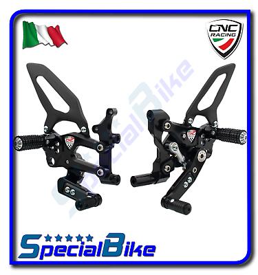 Ducati 899 Panigale 2014 > 2015 Set Pedane Regolabili Cnc Racing Rps Nero Een Grote Verscheidenheid Aan Modellen