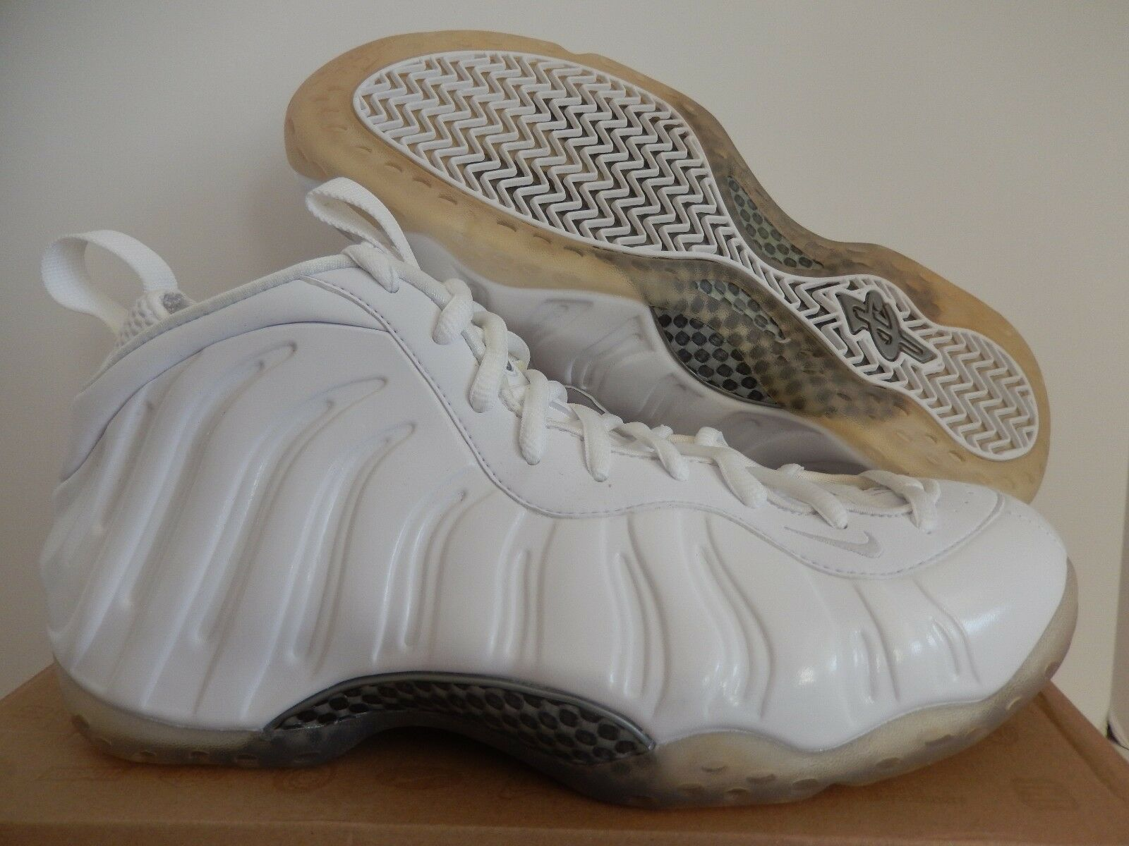 Nike price Air Foamposite One Blanco-Blanco-metallic Plata price Nike reduction Wild Casual Shoes b994d7