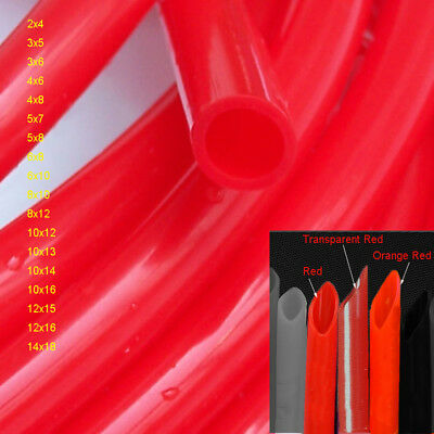 Black Food Grade Silicone Soft Flexible Tube High Temp Hose//Pipe ID:2mm to 14mm