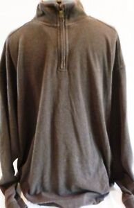 Tommy-Bahama-Mens-Pullover-Sweater-Extra-Large-XL-100-Cotton-Brown-Zip