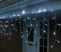 480 LED White Fairy Icicle Lights Christmas Indoor Outdoor Lighting
