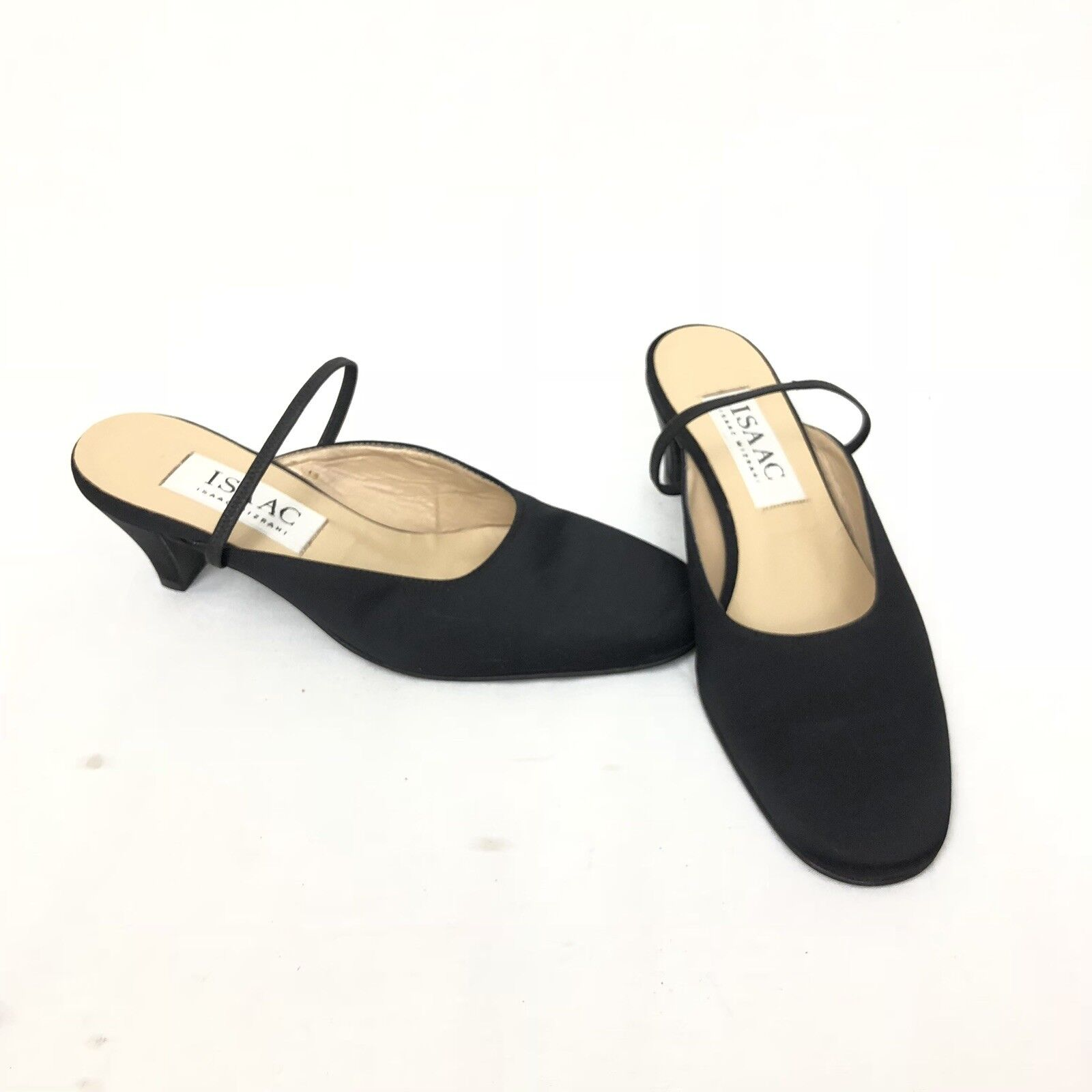 Isaac Mizrahi DamenschuheS LOW HEEL STRAPPY SLING BACK VINTAGE 5 BLACK VINTAGE BACK New Neiman cf6aea