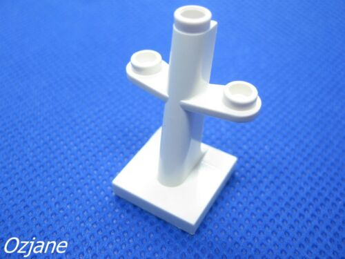 LEGO PART 4289 BOAT MAST 2 X 2 X 3 WHITE INCLINED NEW