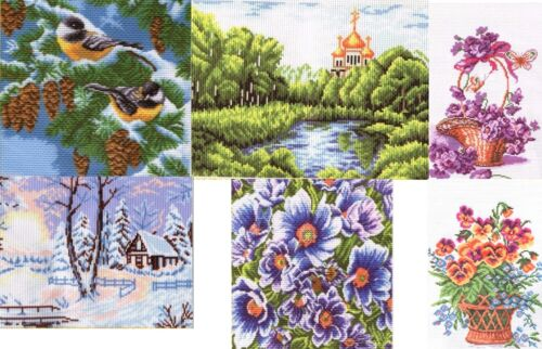 Set of Two Counted Cross Stitch Set Needlework Free Shipping