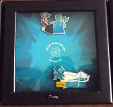 London 2012 OLIMPIADI 2 pin badge Venue Set Immersione scatola di finestra RIO