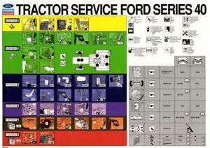 NEW HOLLAND TRACTOR TD7 170 270 SERVICE CHART SALES BROCHURE//POSTER ADVERT A3