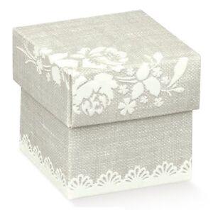 Scatole Bomboniere Matrimonio.Dettagli Su 10 Scatole Bomboniera Confezione Porta Matrimonio Confetti Compleanno Nascita