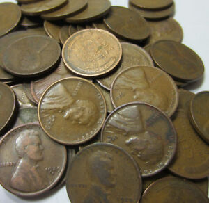 5000) 1920-1929 Wheat Penny Lot // Twenties // P-D-S // 100