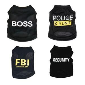 Dog-Black-Pet-Puppy-T-Shirt-Clothes-Coat-Apparel-Costumes-Warmer-Summer-Top-Vest