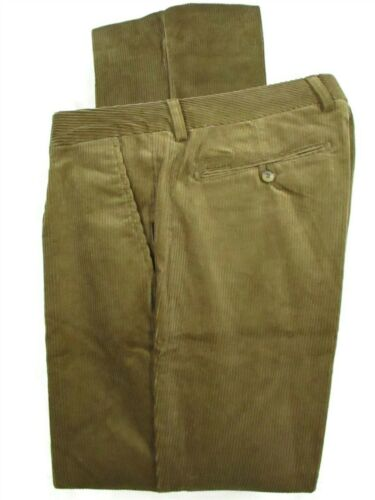 Barbour Mens Brown Pleated Corduroy Pants NWOT 35x