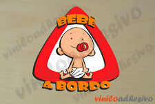 PEGATINA STICKER VINILO Bebe a bordo ref1 Baby on board autocollant aufkleber