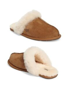 2ca89a82fa0 NEW UGG Brand Womens Scuffette II Slippers 5661 Chestnut NIB | eBay