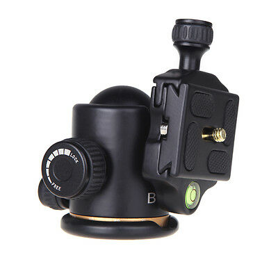 360 Degree Rotate BK-03 Camera Tripod Ball Head with Quick Release Plate UK