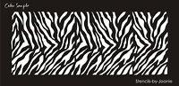 Wild Animal Decor Stencil Zebra Stripe Pattern Jungle Safari Zoo Family Kid Art