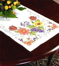 Dimensions Stamped Cross Stitch Kit Table Runner FLOWERS AND BERRIES Sale #73216