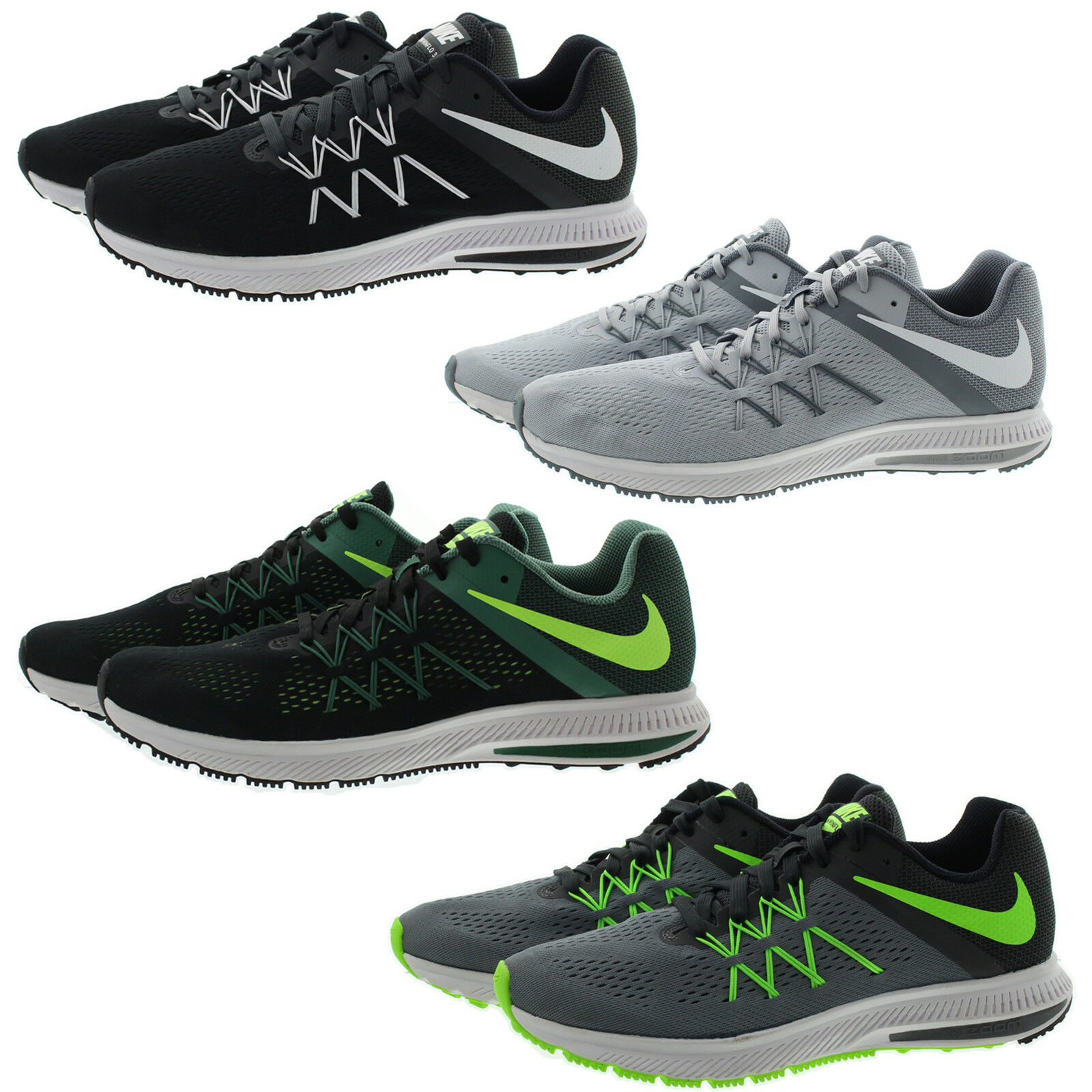 Nike 831561 Mens Zoom Winflo 3 Fitsole Low Top Running Training shoes Sneakers