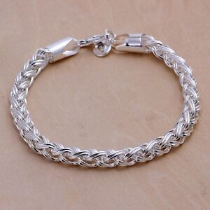 Mit Sterlingsilber Damenarmband Kordel Schmuck 20cm Damen Armband Kette Pl