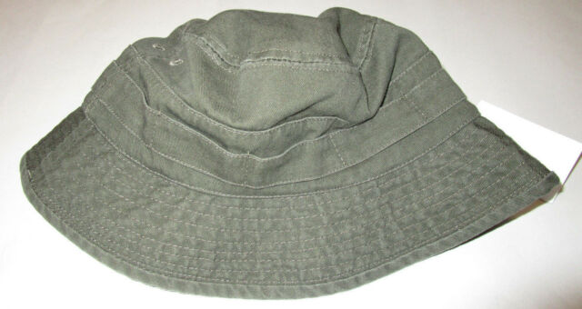 2446aa420edfe Nwt Mens H   M Dark Green Mesh Lined Bucket Fisherman Hat Large