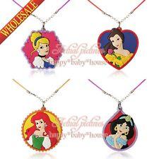 New 20PCS Beautiful Princess PVC Chain Necklace pendant accessories Kids gift