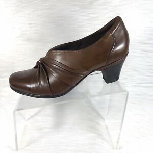 Cobb-Hill-By-New-Balance-Women-039-s-Pumps-Brown-Leather-Size-11-N