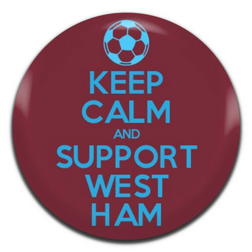 Keep Calm And Support West Ham 25mm 1 Inch D Pin Button Badge