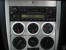 Audi Vw Skoda Seat único montaje DIN Triple 52mm Calibre Panel De Aluminio Titular