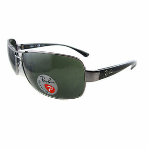 5aad9423df Ray-Ban Rb3379 004 58 Gunmetal Frame Grey Green Polarized Lens ...