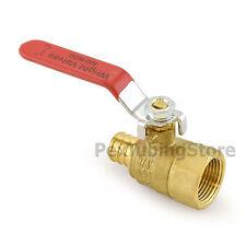 10 34 Pex Crimp X 34 Female Threaded Brass Shut Off Ball Valves Full Port
