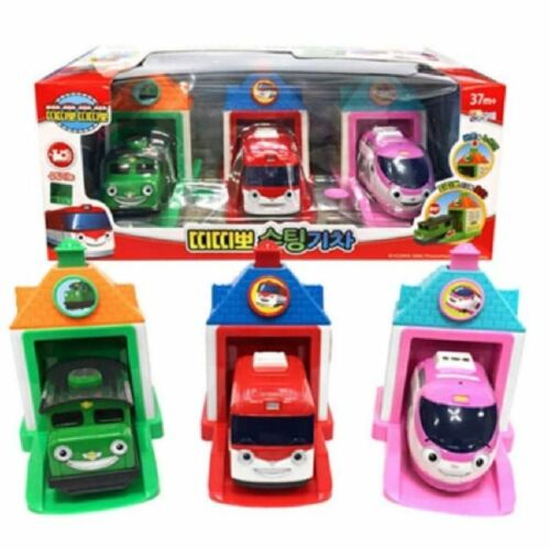 Titipo Trains Shooting Trains Garage 3pcs Toy Set Titipo Jini Diesel Toy