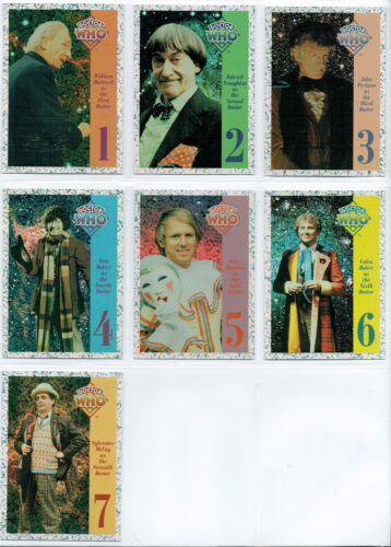 DOCTOR WHO CORNERSTONE SERIES 1 SET OF 7 FOIL CARDS