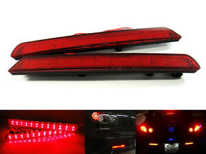 2x-For-04-09-Mazda3-Axela-Red-Lens-24-LED-Rear-Bumper-Reflector-Tail-Brake-Light