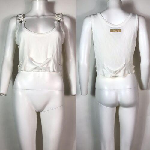 Rare Vtg Jean Paul Gaultier Jean's White Ribbed Ta