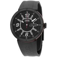 Oris TT1 Black Dial Silicone Strap Men's Watch 73576514764RS