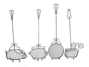 4 X Support Grill Grillwender Grillkorb-animales Formes, Porc, Boeuf, Lièvre-afficher Le Titre D'origine MatéRiaux Soigneusement SéLectionnéS