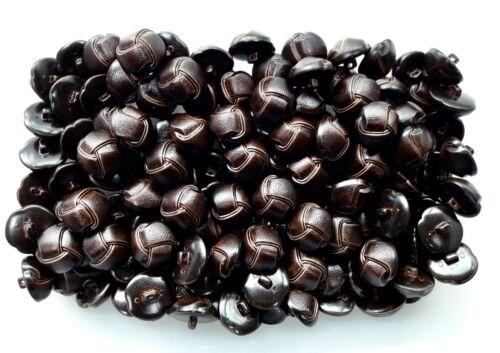 20mm 32L Efecto Cuero Marrón Chocolate Oscuro Botones de vástago Aran de fútbol Q320