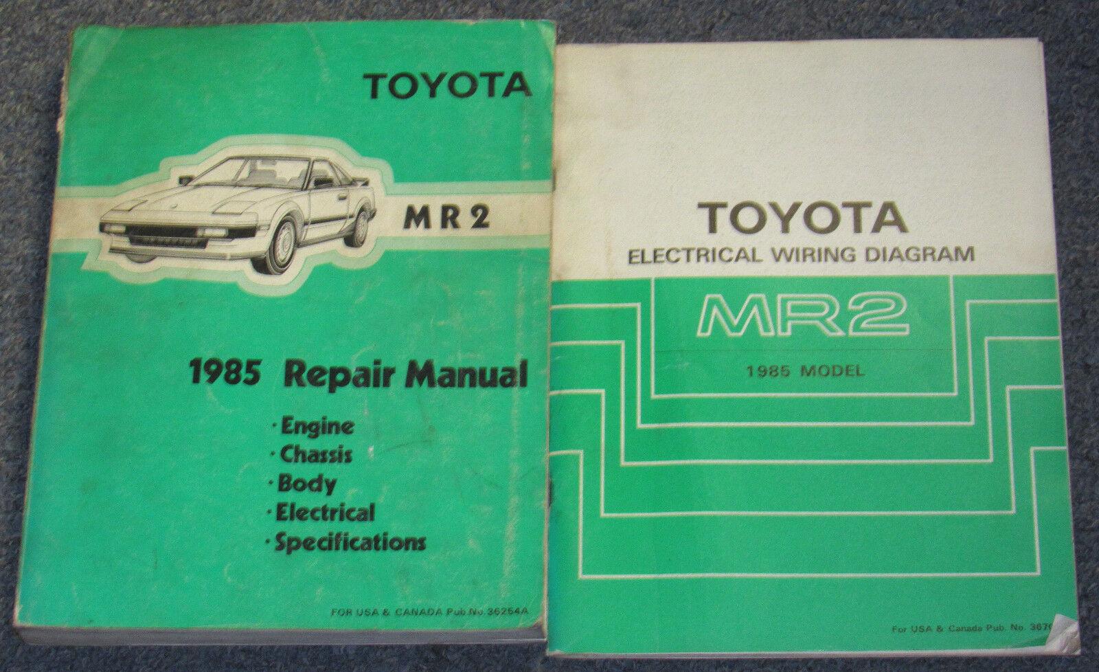1985 Toyota MR2 Service Repair Manual Set
