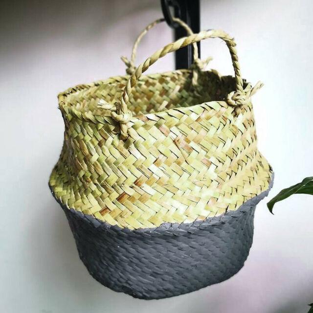 3//4pcs Set Garden Planter Outdoor Wicker Plant Basket Rattan Flower Plant Pot UK