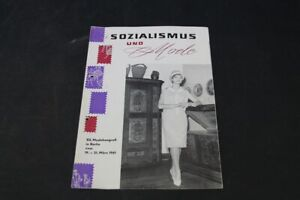 Age Print Advertising Socialism And Fashion Modekongreß 1961 Vintage