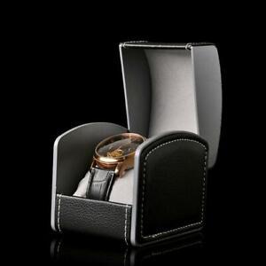 Watch-Travel-Case-Storage-for-Holding-Wristwatch-Smart-Watch-Box-PU-Gift-Black
