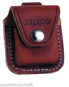 Details zu Zippo Etui m Lasche Tasche Gürteltasche Gürtel Etui braun Leder 1701003